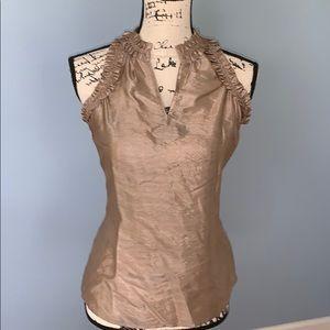 THW LIMITED RUFFLED sleeveless blouse XS